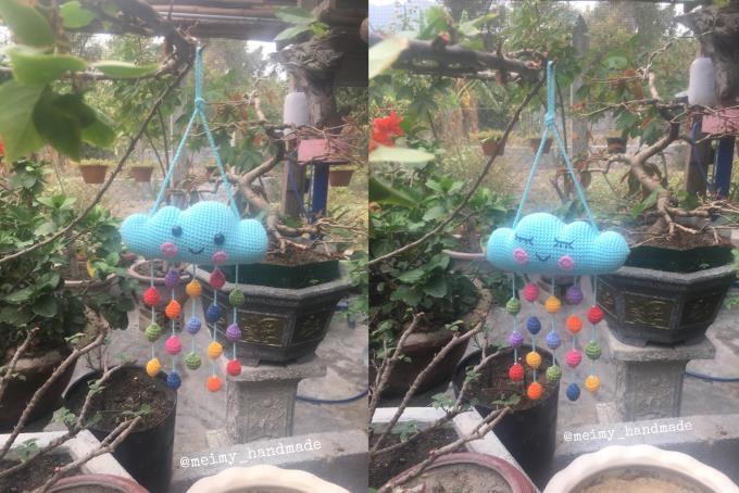 Bồ kết mấy mẫu đồ chơi treo nôi kích thích thị giác của bé, mình loay hoay tìm mẫu để làm cho Nam và ưng lắm mẫu đám mây treo nôi của tác giả Super Cute Design, thế là Nam của mẹ đã có đồ chơi mới.