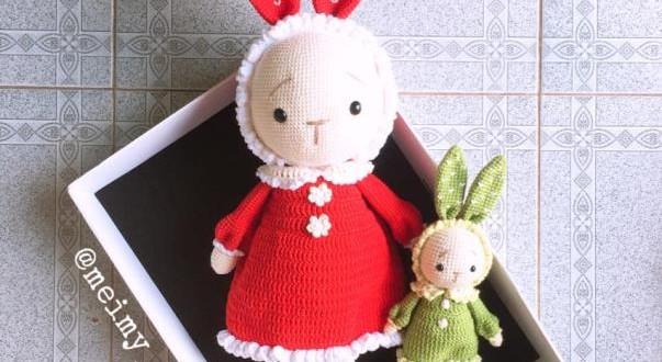 Thỏ Mimi tăng size 50cm – Thú bông len Meimy Handmade