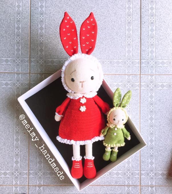 Thỏ Mimi tăng size 50cm là món quà đáng yêu bạn có thể dành tặng bé yêu vào các dịp đặc biệt. Vẻ dễ thương của bé thỏ sẽ làm các bé thích mê cho mà xem!